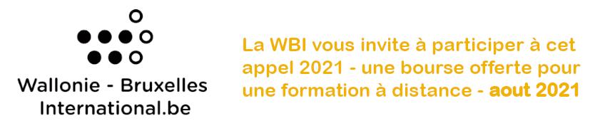 Appel WBI - Formation à distance Aout 2021