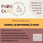L'APFSC vous invite à participer à la Pause CaFLE, le 25 septembre à 16h30