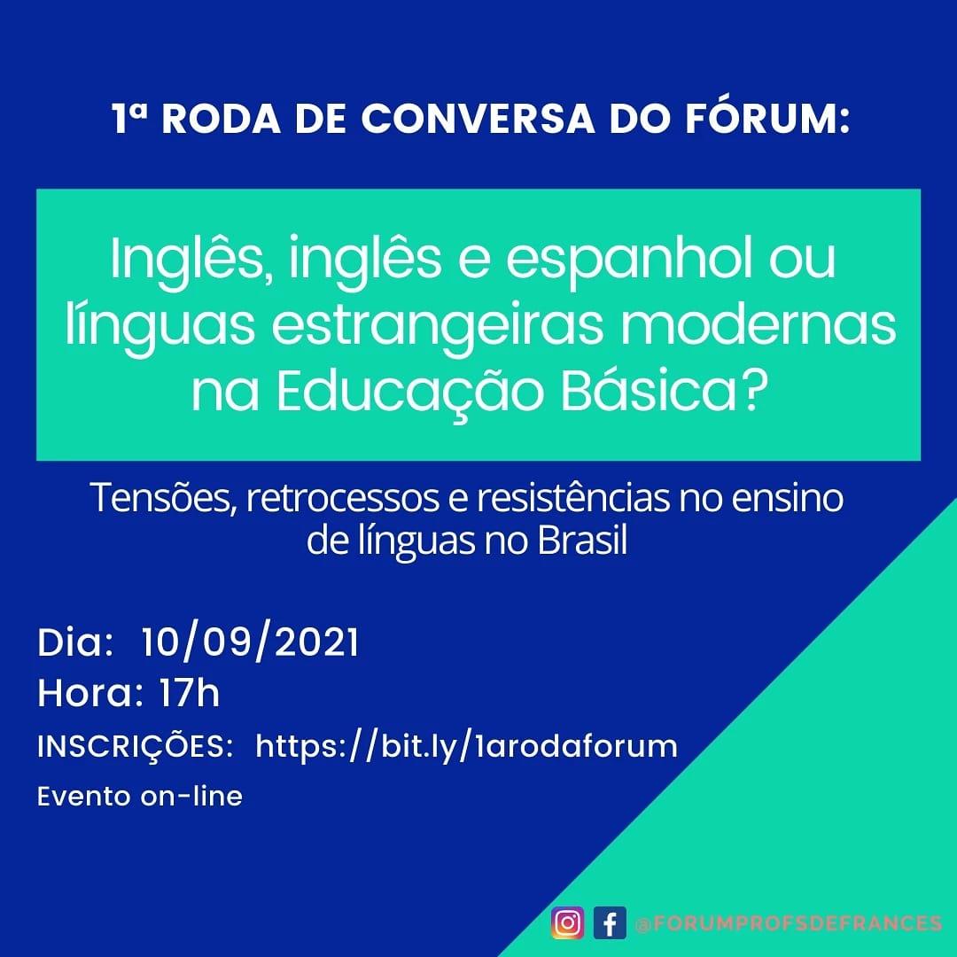 Roda de Conversa - Fórum de Professores de Francês do RJ