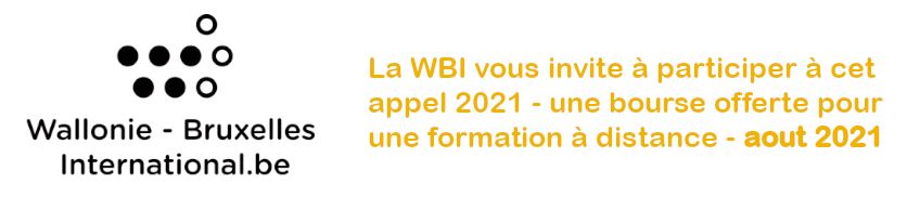 Appel WBI - Formation à distance Aout 2021